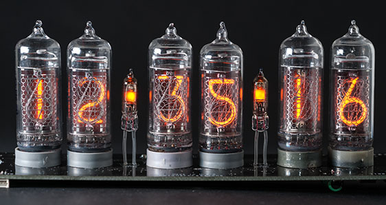 Cold War Creations Large Glass Nixie Clock #3 IN14