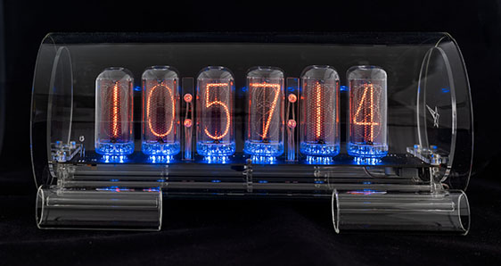 Cold War Creations Large Glass Nixie Clock #3 IN-18