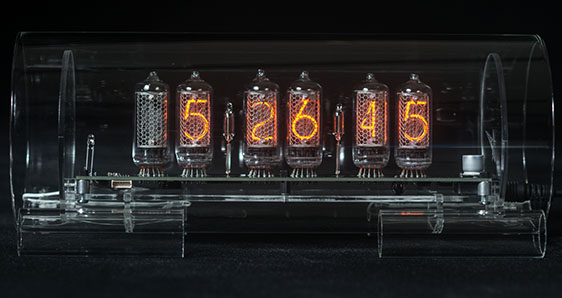 Cold War Creations Large Glass Nixie Clock 3 In 8 2